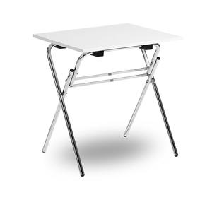 Fällbart skrivbord, Examen, krom/vit