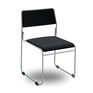 Nice-stol, svart/silver