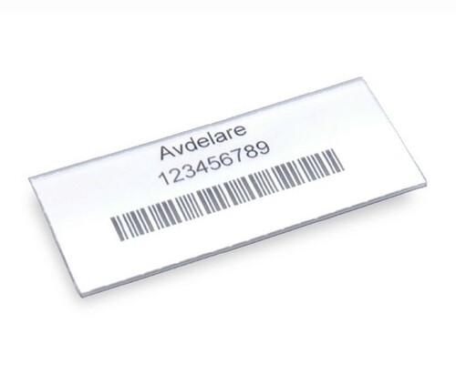 Etikett med hållare, 100-pack