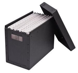 Mobil arkivbox med lock, A4, Grafit