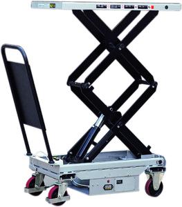 Mobilt lyftbord, dubbelsax, 1010x520mm, Kap 300kg, El
