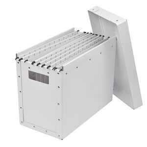 Mobil arkivbox med lock, A4, Vit