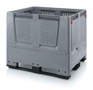 Fällbar plastcontainer med ventilation, stor | 3 medar
