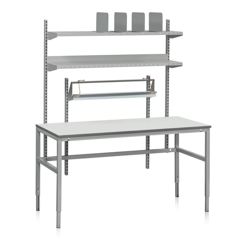 Packbord med hyllor och rullhållare | 300kg