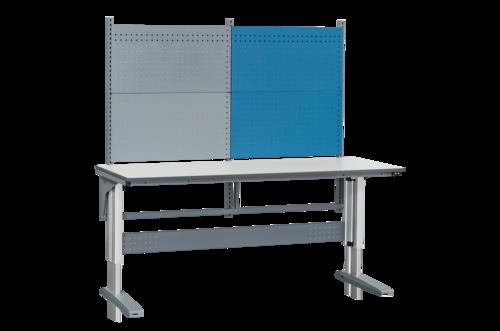 Höj- och sänkbart arbetsbord med verktygspanel | 375kg