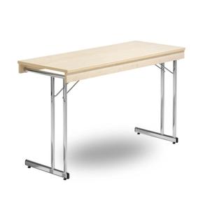 Fällbart bord, Kongress Style Ram 1400 x 600 x 730 krom/björk