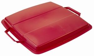 Lock till Plastkärl, 90 L, Röd