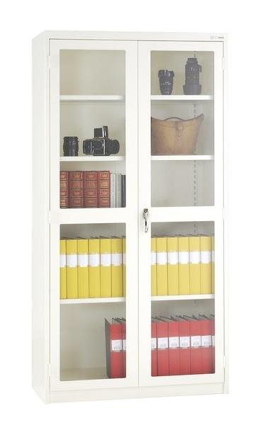Helsvetsat miljöskåp med dörr i glas eller plåt