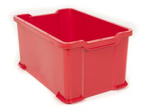 Plastback 600x400x300 mm | Röd