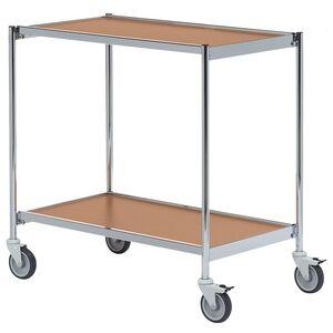Rullbord utan handtag 1000x420 Krom/Bok-Körsbär