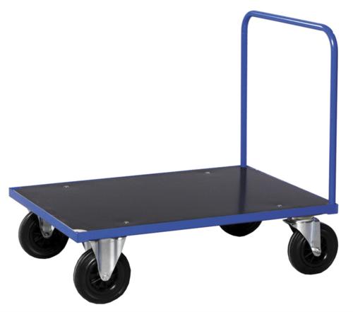 Blå plattformsvagn   1 bygel