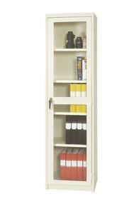 Förvaringsskåp enkeldörr, härdat glas, H: 1975