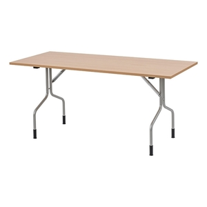 Fällbart bord Handy, 1400x700, Björk/Silver