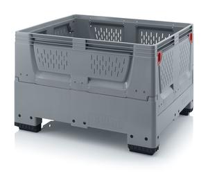 Fällbar plastcontainer med ventilation, mellan | 4 fötter