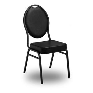 Class-stol i stål, svart/svart