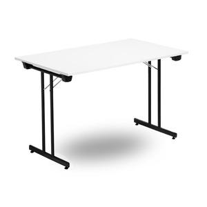 Fällbart skrivbord, FLITIG 1200 x 700 x 730, Svart/Vit