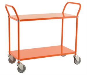 Plåtvagn med 2 hyllor, Orange
