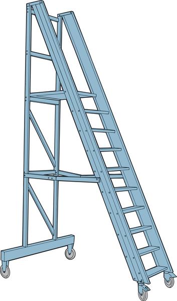 Mobil trappa med räcke, Proffs
