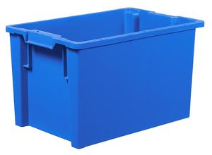 Stapelbar plastback 66 L   600x400x350 mm   Blå