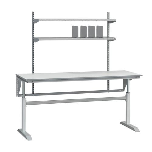 Höj- och sänkbart packbord med två hyllor | 250kg