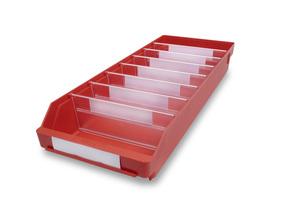 Lagerlåda 600x240x95 | Röd | 15 st