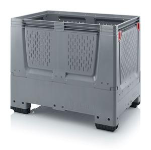 Fällbar plastcontainer med ventilation, liten | 4 fötter
