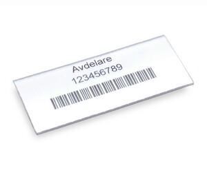 Etikett med hållare 135x30