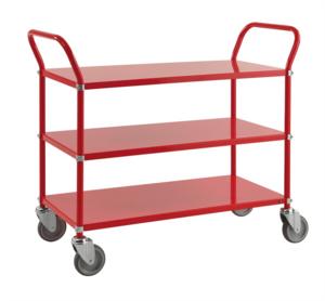 Rullvagn med 3 hyllor, Röd