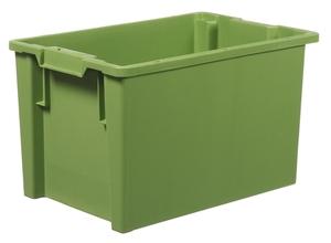 Stapelbar plastback 66 L   600x400x350 mm   Grön
