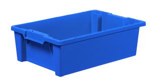 Stapelbar plastback 32 L| 600x400x180 mm | Blå