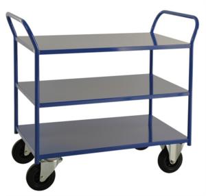 Rullvagn, 3-plan, 1080x550x955 mm, Blå