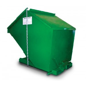 Tippcontainer med lock 1200L