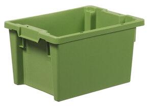 Stapelbar plastback 50 L   600x400x270 mm   Grön