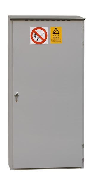 Gasförvaring för utomhusbruk i galvaniserad plåt