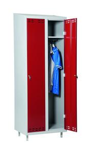 Klädskåp med 2 dörrar, Röd