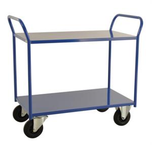 Rullvagn, 2-plan, 1070x450x955 mm, Blå
