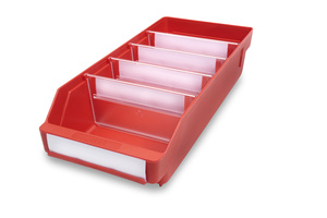 Lagerlåda 400x180x95 | Röd | 20 st