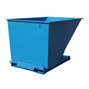 Tippcontainer med tryckplatta 2000 L