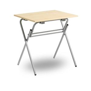 Fällbart skrivbord, Examen, silvergrå/björk