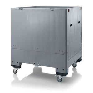 Fällbar pallcontainer isolerad, 1000L | 4 hjul