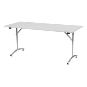 Foldy fällbart bord, 1400x600, Björk/Krom