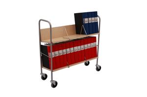 Kontorsvagn med 2 hyllplan, Björk