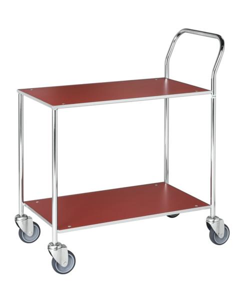 Enkel bordsvagn | Röd/Vit