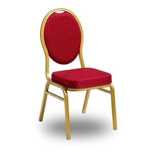Class-stol i aluminium, röd/guld