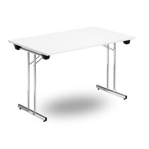Fällbart skrivbord, FLITIG 1200 x 700 x 730, Krom/vit