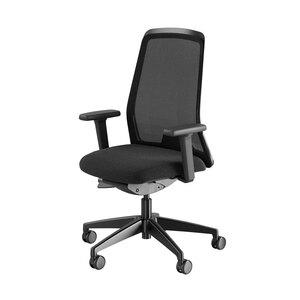 Kontorsstol Flex, svart/mesh