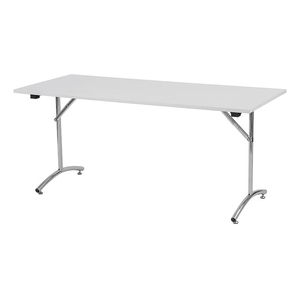 Foldy fällbart bord, 1400x800, Vit/Silver