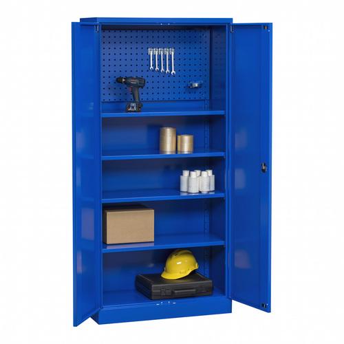 Verkstadsskåp med kapacitet 300 kg, blå