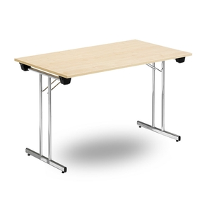 Fällbart bord TJUSIG 1800 x 700 x 730, Krom/Björk