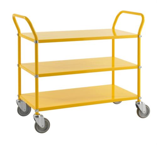 Rullvagn i olika färger | 3 hyllplan